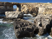 The Azure Window and Blue Hole — Stock Photo