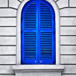 blue window — Stock Photo