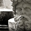Medieval Garden Statue - Stock Photo