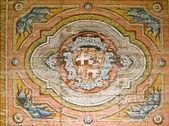 Fresco of Knights of St John Emblem — Stock Photo