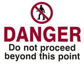 Do Not Proceed — Stock Photo