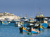 Malta Fishing Village — Stock Photo