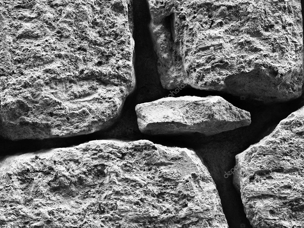 Texture and detail of an old limestone wall — Stock Photo #2376197