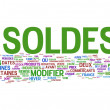 Soldes Concept — Stock Photo