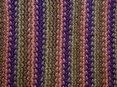 Striped woolen weaving — Stock Photo