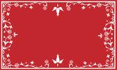 Red wedding card — Stock Vector