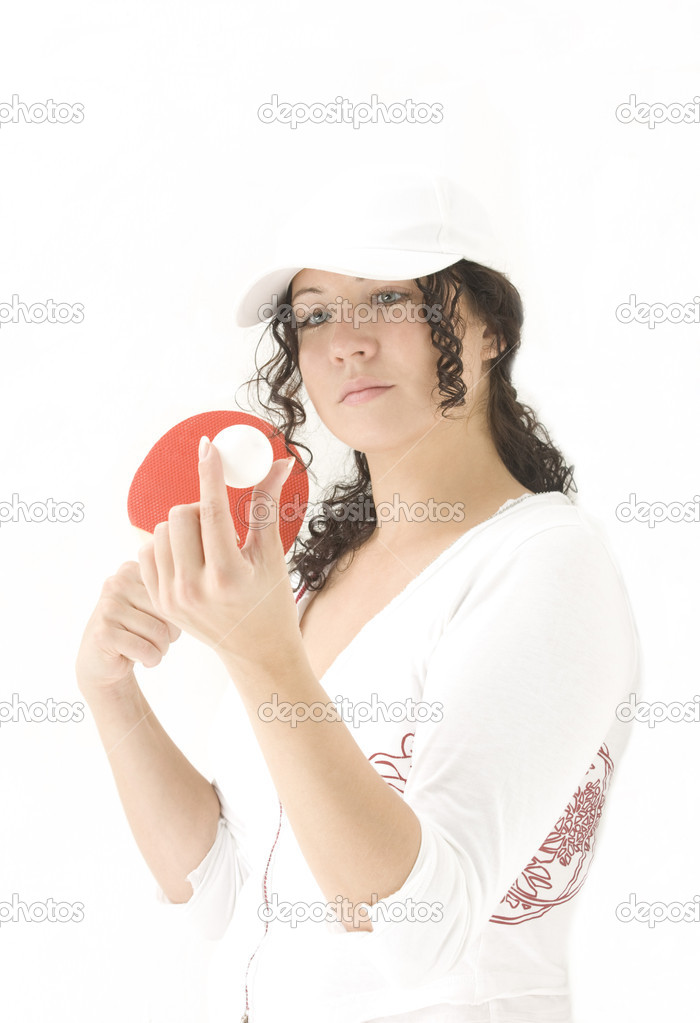 Woman playing Ping-Pong — Stock Photo #1852698