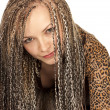 Beautiful woman with dreadlocks — Stock Photo