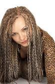 Beautiful woman with dreadlocks — Stock Photo