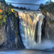 Mystic Montmorency waterfall - Stock Photo