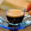 Cup of espresso coffee - Stock Photo