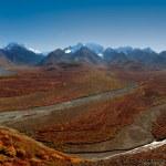 Denali National Park Polychrome Pass — Stock Photo