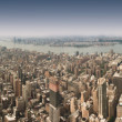 New York City 360 degree panorama - 图库照片