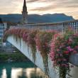 Sunset in Villach, Kaernten, Austria - Stock Photo