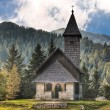 Chapel in Nassfeld mountains Austria - Stock Photo