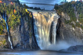 Mystic Montmorency waterfall — Stock Photo