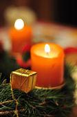 Christmas candles Adventkranz — Stock Photo