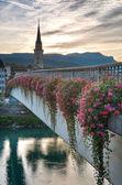 Sunset in Villach, Kaernten, Austria — Stock Photo