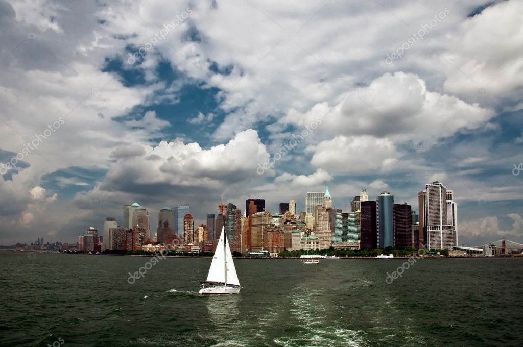 New York City panorama — Stockfoto #2585970