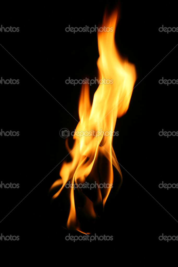 Fire, flame over black background — Stock Photo #1798592