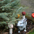 Stock Photo: Christmas tree and bunny