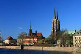 Ostrow tumski, wroclaw, poland — Stock Photo