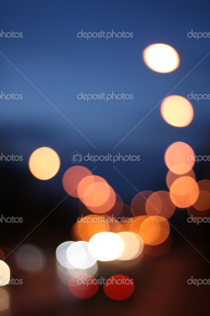 Bokeh, abstract, city street at night, lights — Stock Photo #1848780