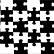Abstract background  black-white puzzle. — Stock Photo