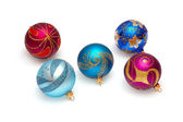 Christmas brilliant spheres — Stock Photo