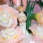 Decorative wedding candle — Stock Photo