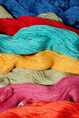 Multi-colored mouline threads — Stock Photo
