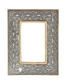 Gold-silver picture frame — Stock Photo