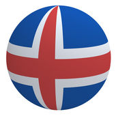 Iceland flag on the ball — Stock Photo