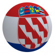 Croatia flag on the ball - Stock Photo