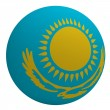 Kazakhstan flag on the ball — Stock Photo