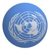 UN flag on the ball — Stock Photo
