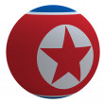 North Korea flag on the ball — Stock Photo