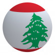 Lebanon flag on the ball — Stock Photo