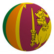 Sri Lanka flag on the ball — Stock Photo
