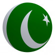 Pakistan flag on the ball — Stock Photo