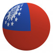 Myanmar flag on the ball — Stock Photo