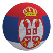 Serbia flag on the ball — Stock Photo