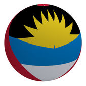 Antigua and Barbuda flag on the ball — Stock Photo