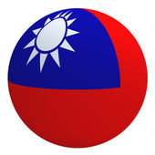Republic of China flag on the ball — Stock Photo