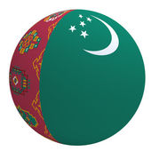 Turkmenistan flag on the ball — Stock Photo