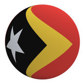 East Timor flag on the ball — Stock Photo