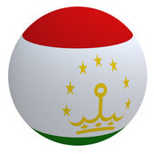 Tajikistan flag on the ball — Stock Photo