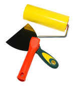 Tools ( roller, palette knife, spatula ) — Stock Photo