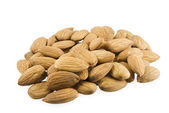 Handful of almonds — Stock Photo
