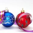 Royalty-Free Stock Photo: Red and blue xmas balls